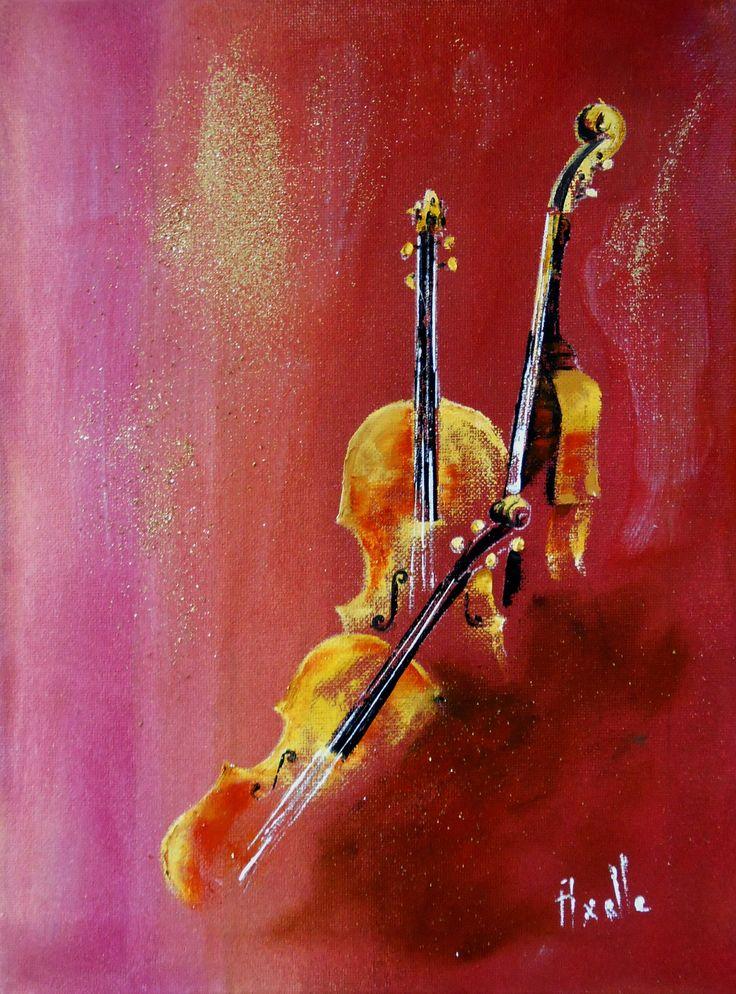 Idée Relooking Cuisine Tableau Trio De Violons Peinture à Lhuile
