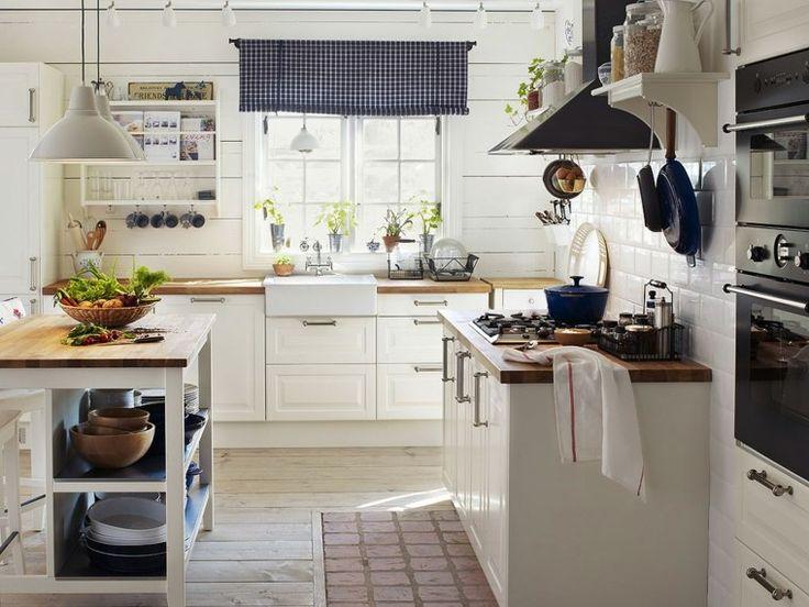 cuisine blanche et bois campagne