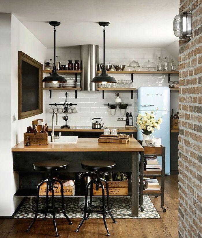 Idée relooking cuisine - idée originale pour aménager une petite ...