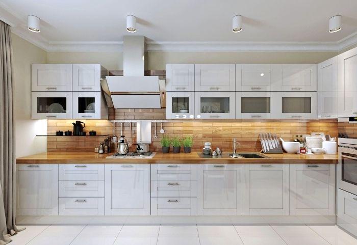 Idée relooking cuisine - modèle de cuisine moderne aménagée ...