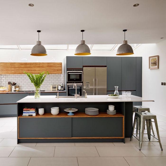 Id e relooking cuisine mod le de cuisine moderne aux - Deco cuisine moderne blanc ...