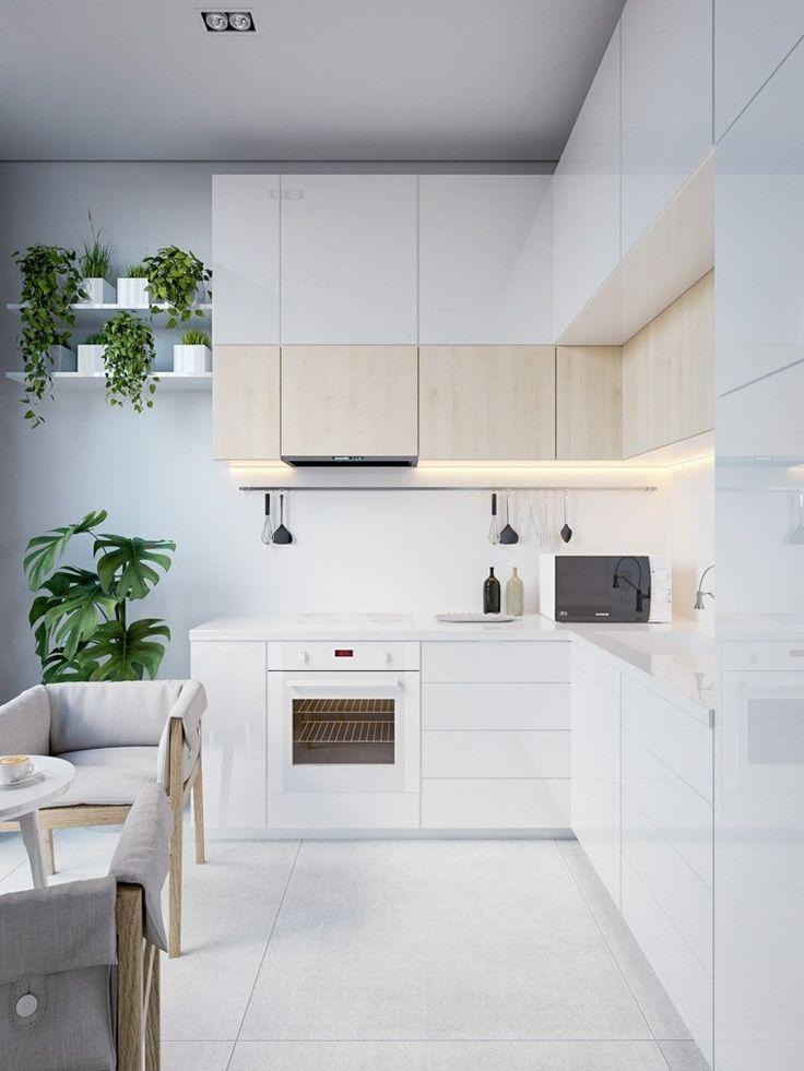 Id e relooking cuisine mod les de cuisine moderne pour petit espace avec plan en l - Idee cuisine petit espace ...
