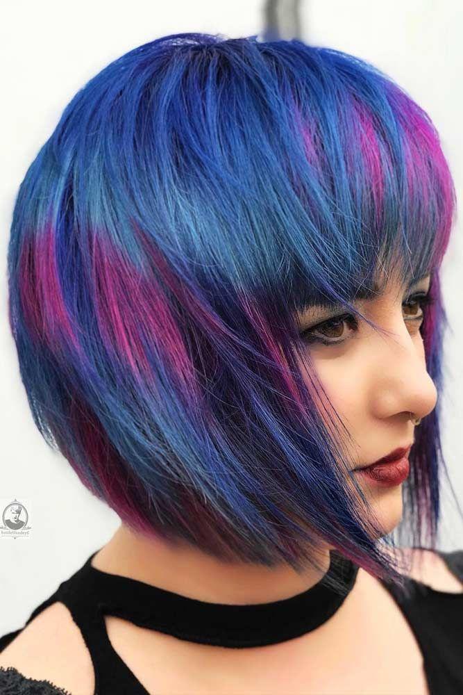 Nouvelle Tendance Coiffures Pour Femme 2017 / 2018 - Bob coupe de cheveux avec des franges pour ...