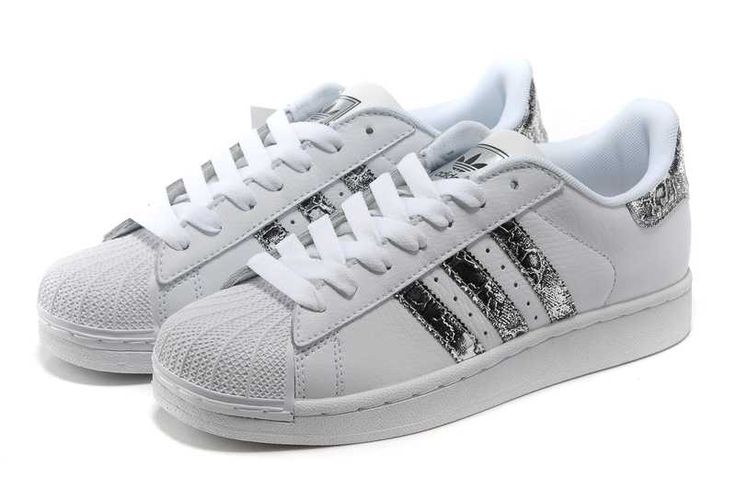 Description. Adidas Superstar II Tache Blanche Serpent D'argent Femmes