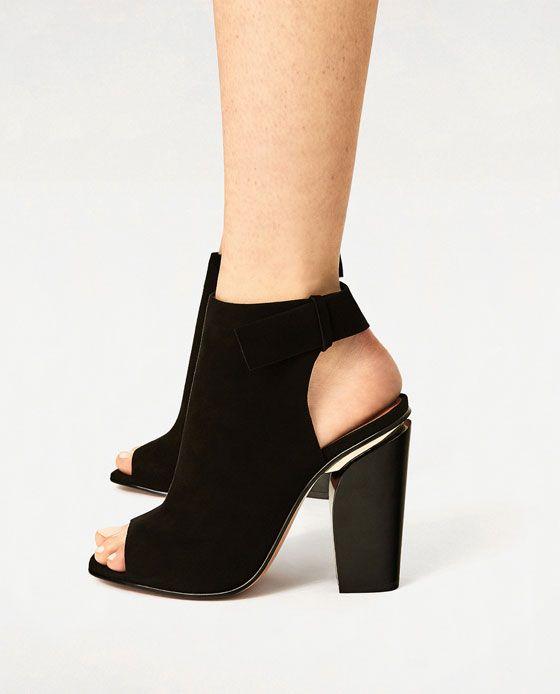 Chaussures Zara grises femme QoGbO