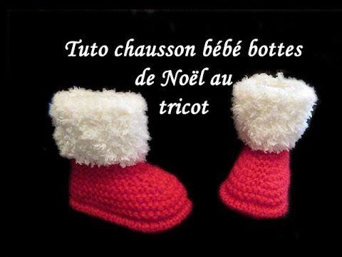 02eab1dd8aa63 Tendance Chaussures 2017 - tuto chausson bébé noel tricot