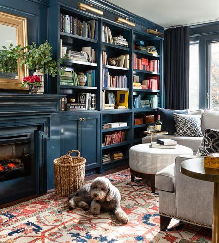 d co salon biblioth que et salon chaleureux leading inspiration culture. Black Bedroom Furniture Sets. Home Design Ideas