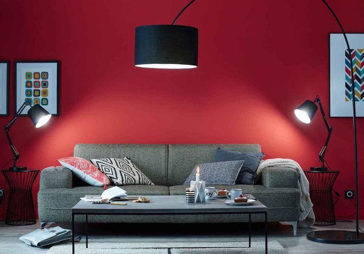 Déco Salon Un Salon Rouge Moderne Des Couleurs Chaudes Sur Les