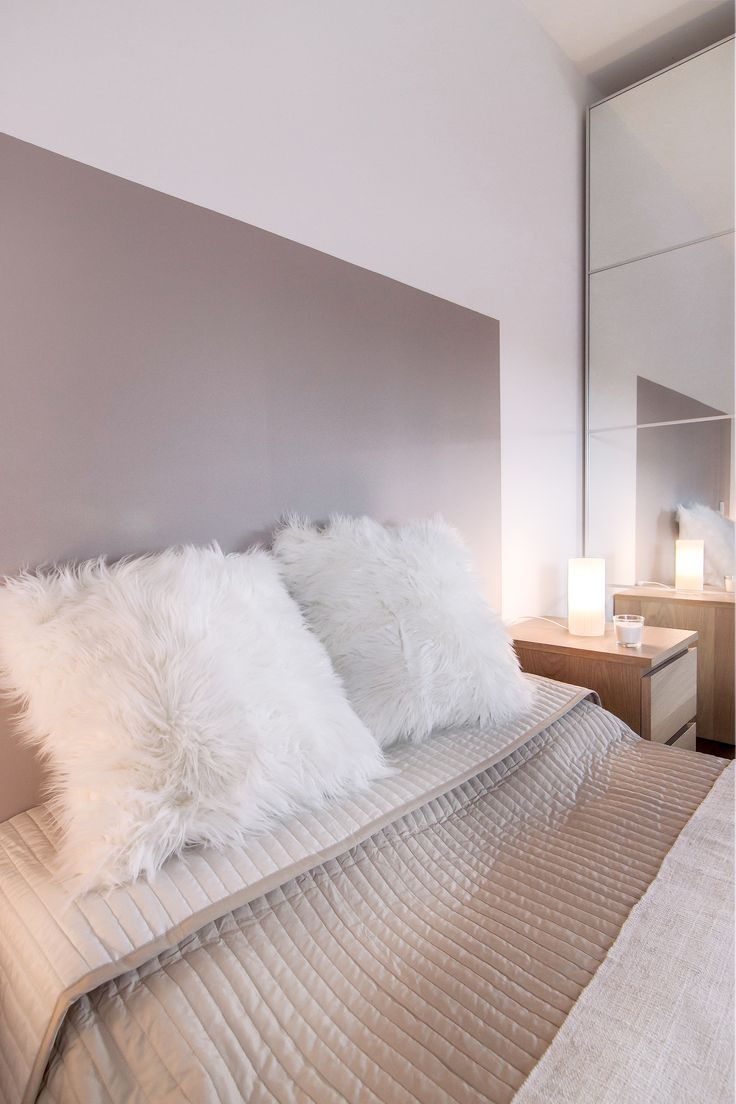 Déco Salon - chambre cocooning taupe beige et blanc chambre cosy ...