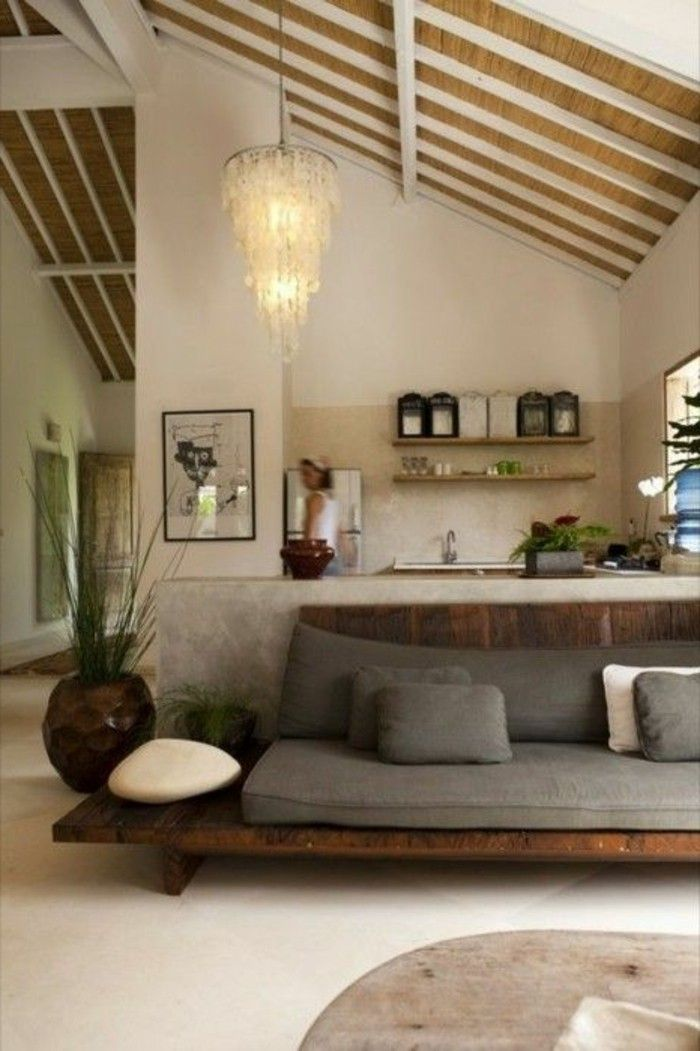 Déco Salon - joli salon de couleur taupe et avec une ambiance zen ...