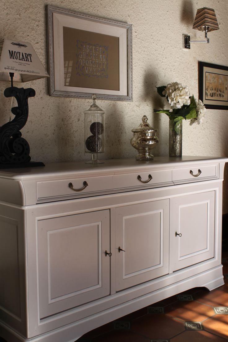 Nell co buffet louis philippe en merisier patin galet - Repeindre meuble louis philippe ...
