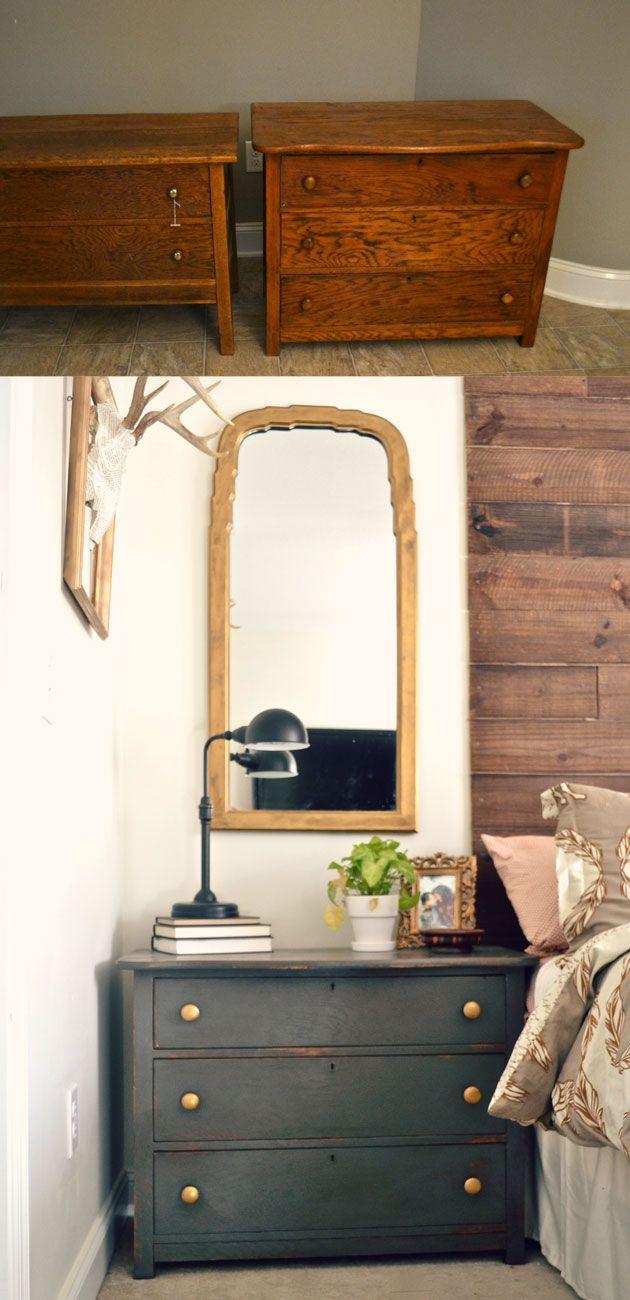d co salon une commode avant apr s commode chambre d. Black Bedroom Furniture Sets. Home Design Ideas
