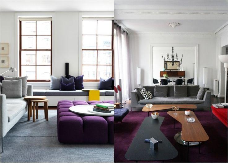 Idée Décoration Maison En Photos 2018 - couleur aubergine associée ...