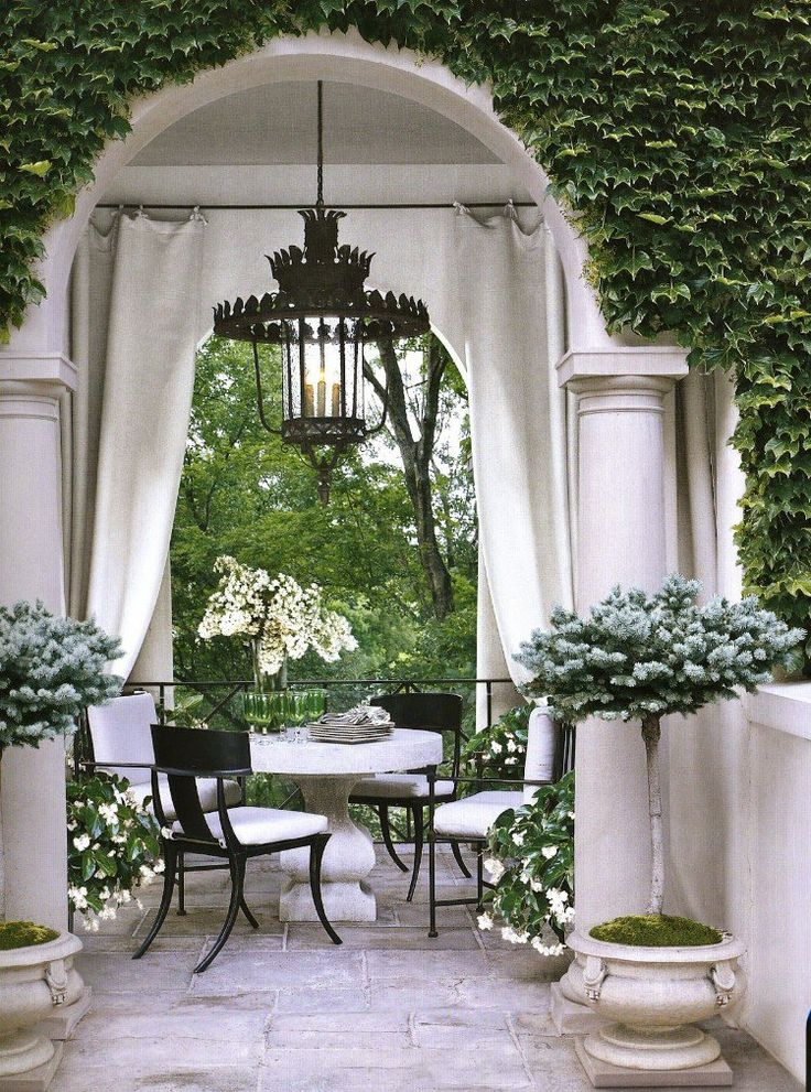 Rideau v randa style boh me chic id es d co porche design Rideau boheme