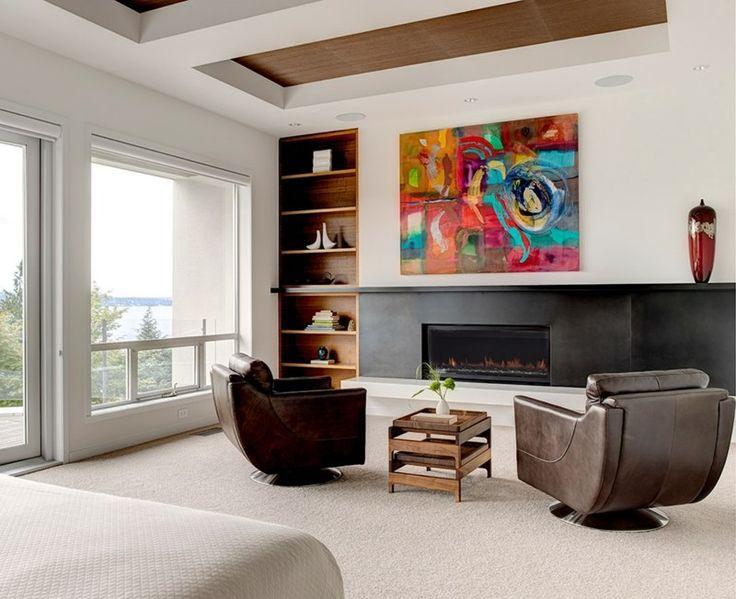 Idee Decoration Maison En Photos 2018 Tableau Abstrait En Couleurs