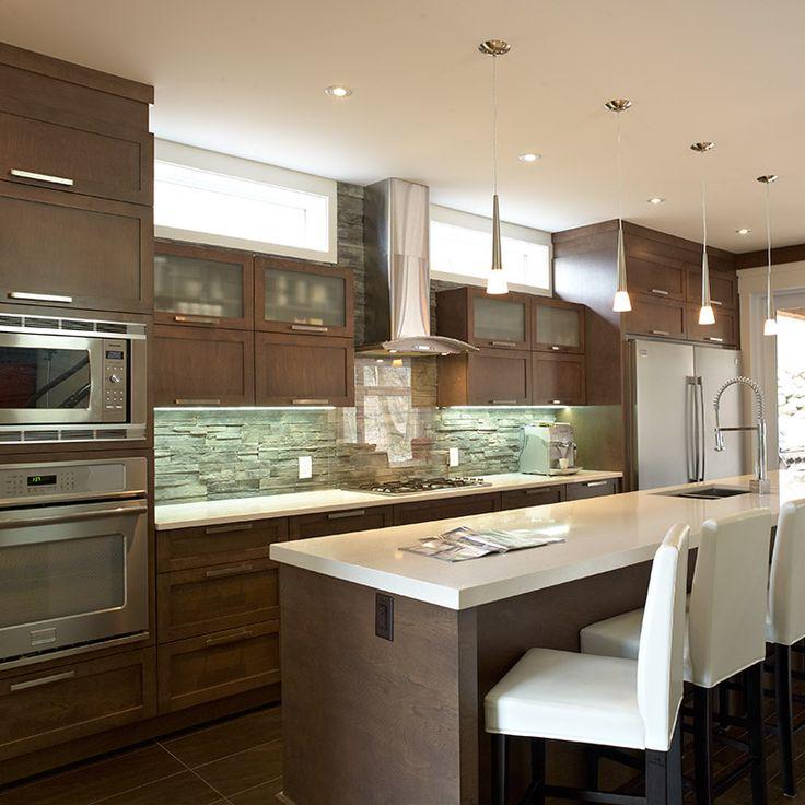id e relooking cuisine armoire de cuisine contemporaine avec grand ilot. Black Bedroom Furniture Sets. Home Design Ideas