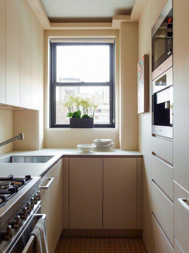 Idée relooking cuisine - cuisine-u-petite-surface-armoires ...