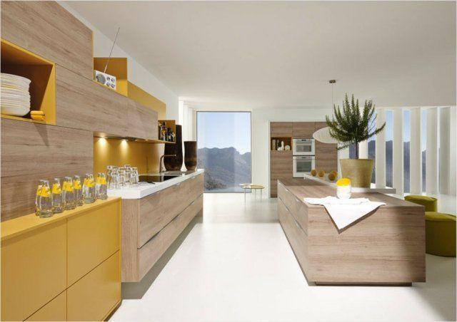 Cuisine Moderne Jaune idée relooking cuisine - idées de cuisine moderne en bois clair et