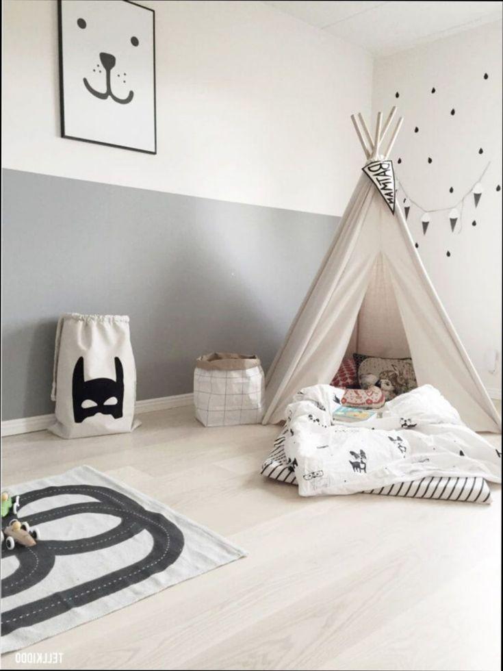chambre déco tipi décoration fille gris et rose scandinave pour ...