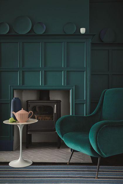 Deco Salon Little Greene Aime Le Vert Emeraude Listspirit Com