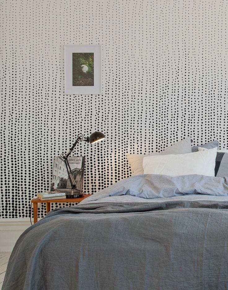 papier peint rain drops au fil des couleurs via www. Black Bedroom Furniture Sets. Home Design Ideas