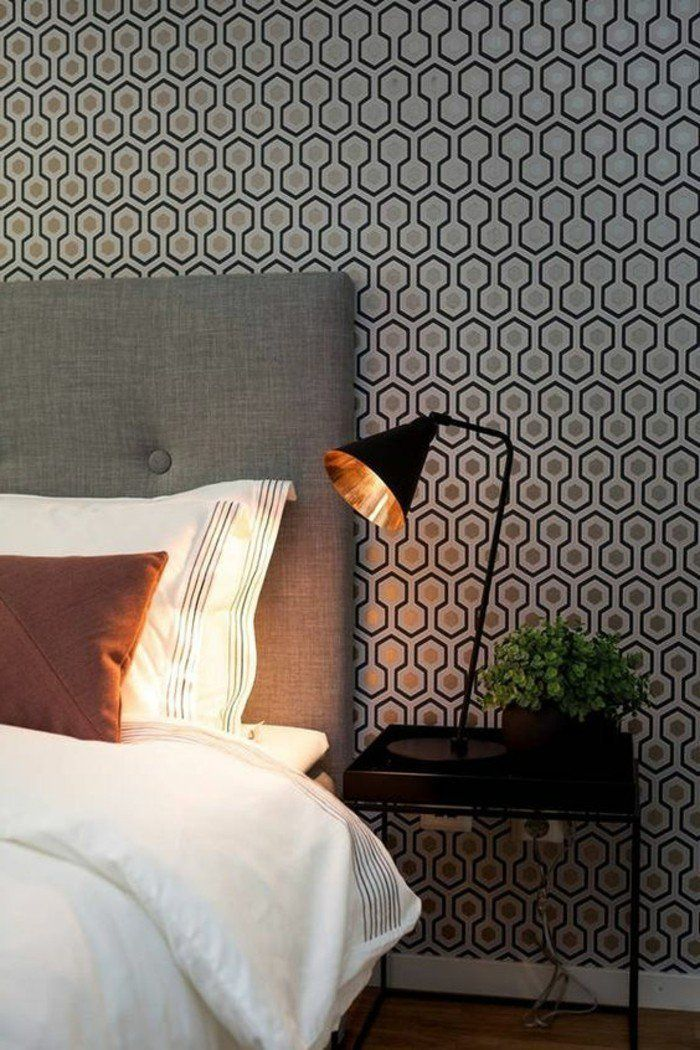 Deco Salon Joli Design De Papier Peint Castorama Chambre A