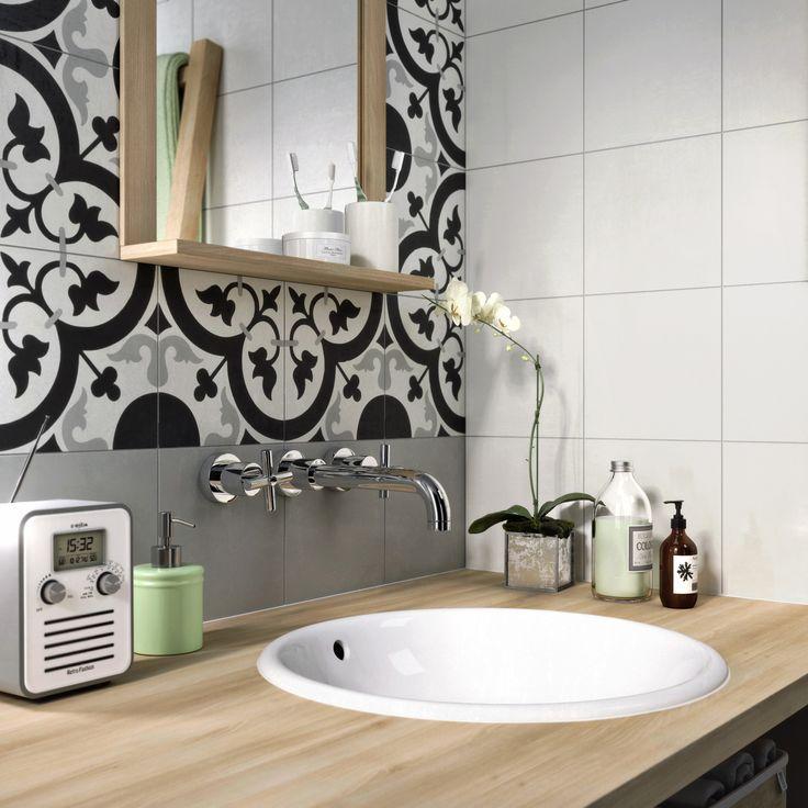 Idée décoration Salle de bain - Carreau de ciment Belle ...