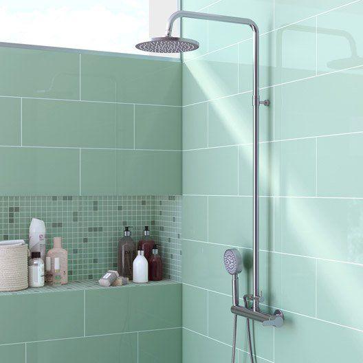 id e d coration salle de bain fa ence mur vert d 39 eau. Black Bedroom Furniture Sets. Home Design Ideas