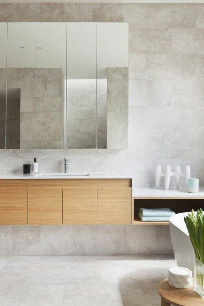 armoire de toilette ikea en bois clair et meuble salle de. Black Bedroom Furniture Sets. Home Design Ideas