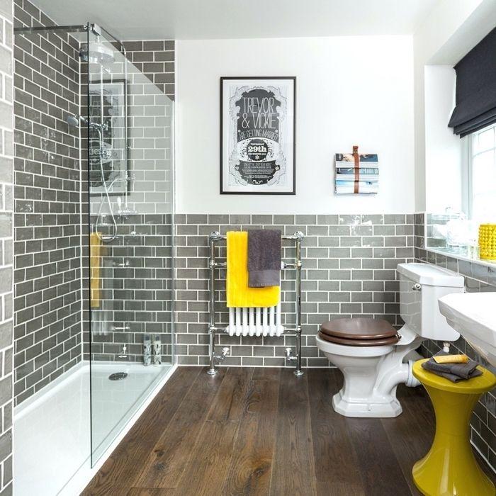 Idée décoration Salle de bain - exemple salle de bain gris ...