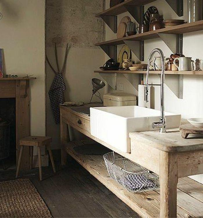 Idée décoration Salle de bain - jolie-cuisine-rustique-avec ...