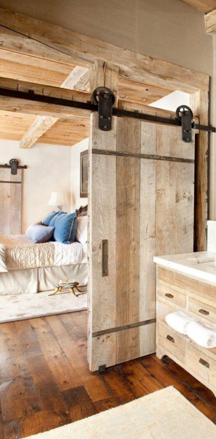 id e d coration salle de bain porte coulissante galandage pour la chambre a coucher rustique. Black Bedroom Furniture Sets. Home Design Ideas