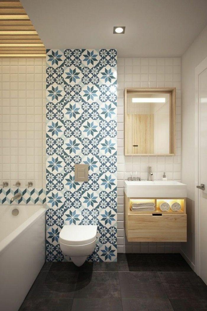 Idée décoration Salle de bain - salle de bain en carrelage blanc ...
