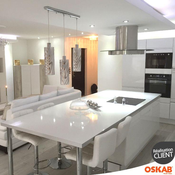 Plan maison avec cuisine ouverte - Plan cuisine ouverte sur salon ...