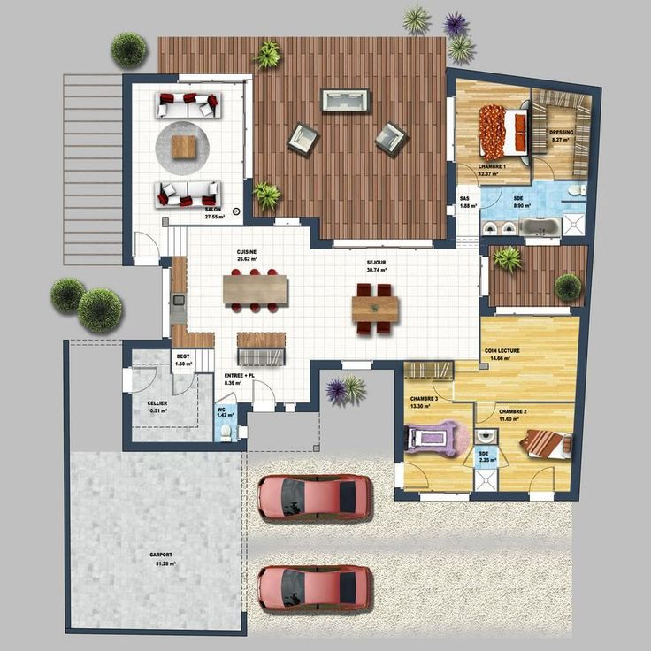 plans maison en photos 2018 envie de faire construire une maison plain pied moderne dans le. Black Bedroom Furniture Sets. Home Design Ideas