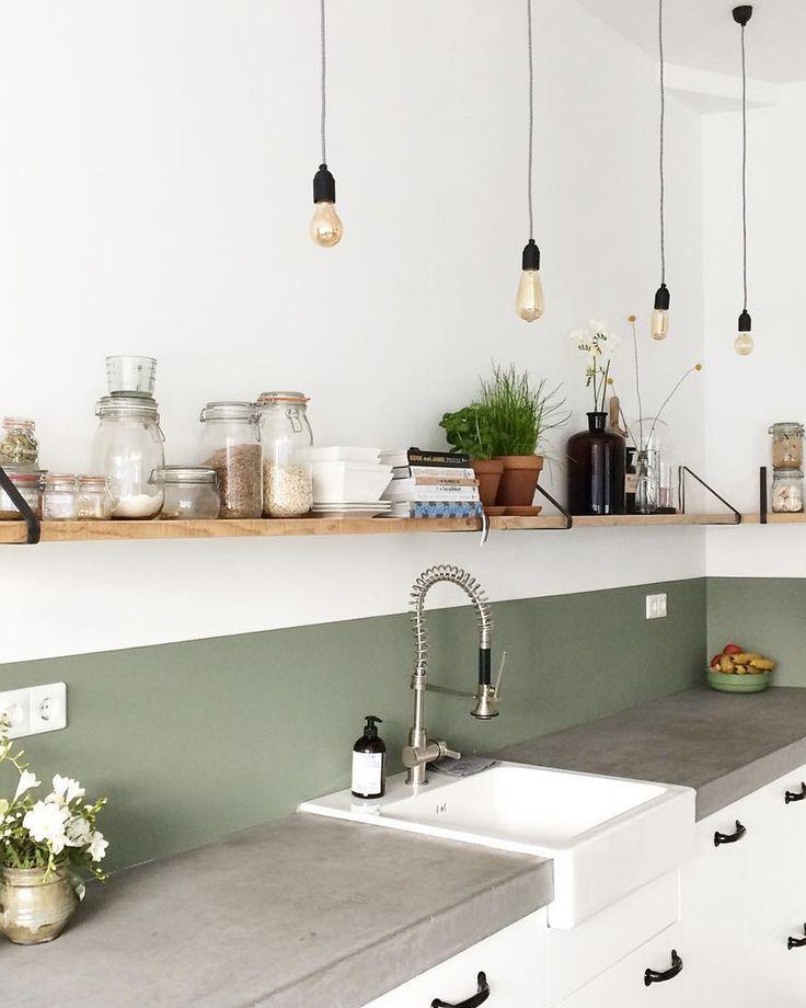Couleur Des Murs Pour Une Cuisine: Crédence Cuisine Vert Olive