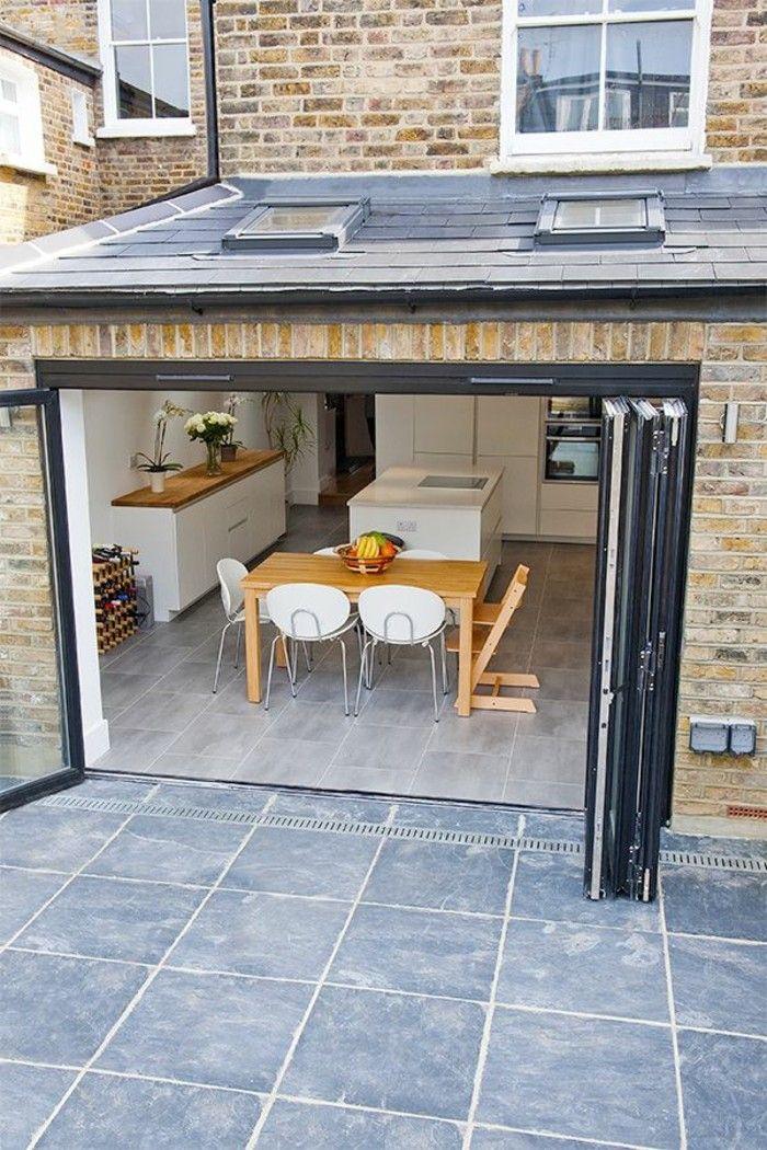 jolie porte kz pliante pour la maison moderne avec sol en carrelage ...