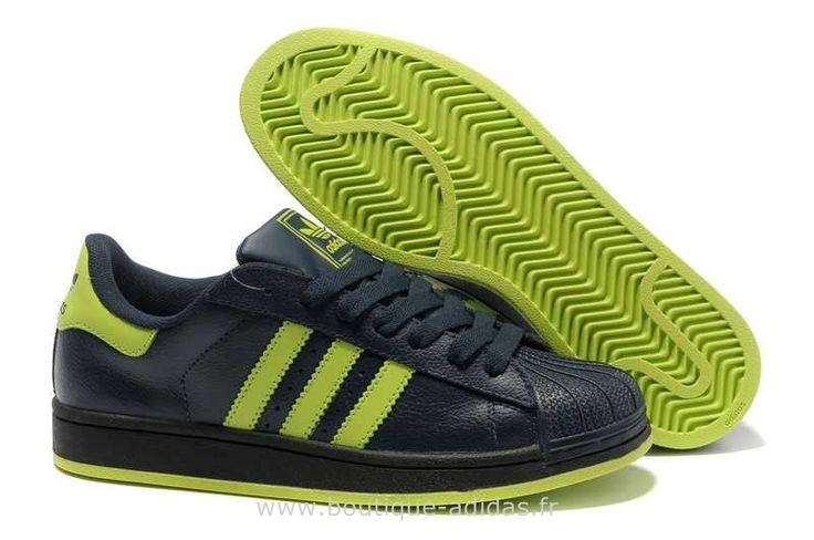 grande vente be3e5 8c37e Femmes Adidas Superstar II Classique Noir Vert Adidas ...