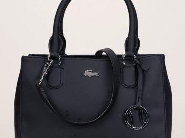 Tendance Chaussures 2017 – Mini cabas texturé noir Lacoste porte-clés  fantaisie prix Sacs Monshowroom 175… b44a23ba6e0f