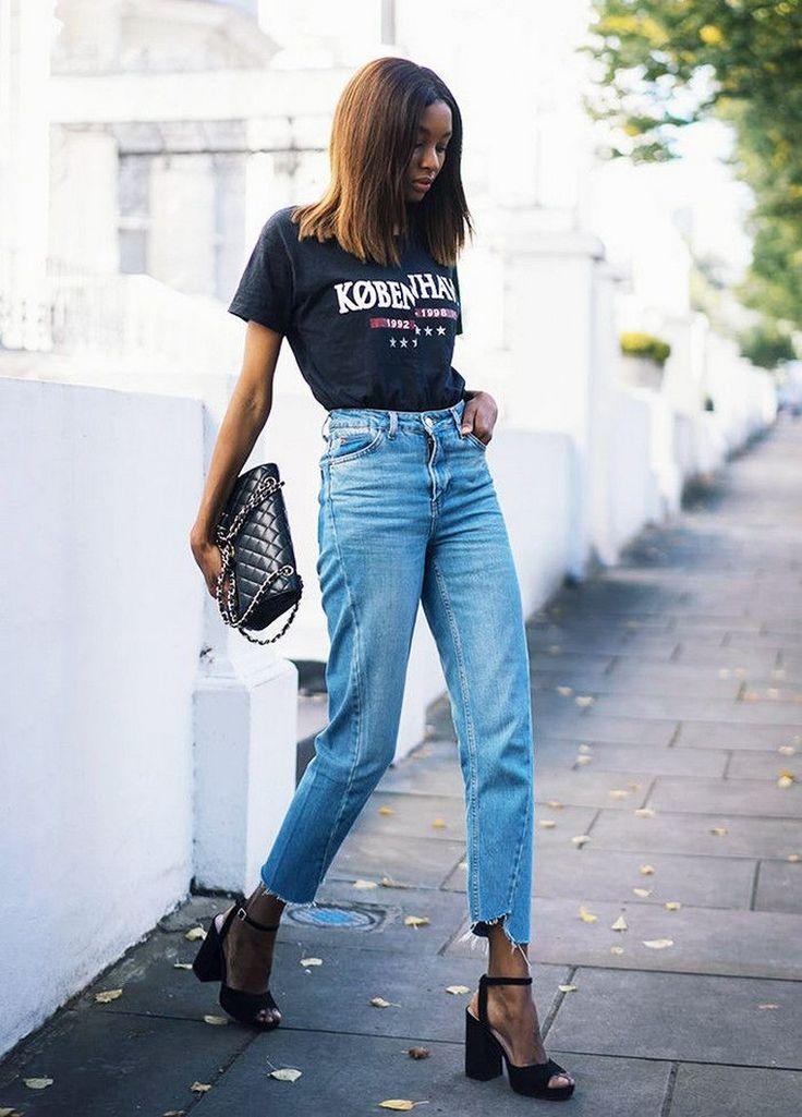tendance chaussures 2017 denim blue jean jeans femme look tendance automne hiver 2017. Black Bedroom Furniture Sets. Home Design Ideas