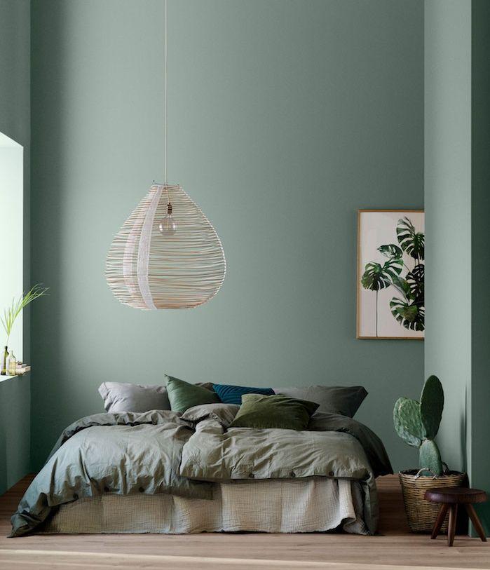 D co salon bleu celadon tirant vers le vert linge de Deco salon gris et bleu