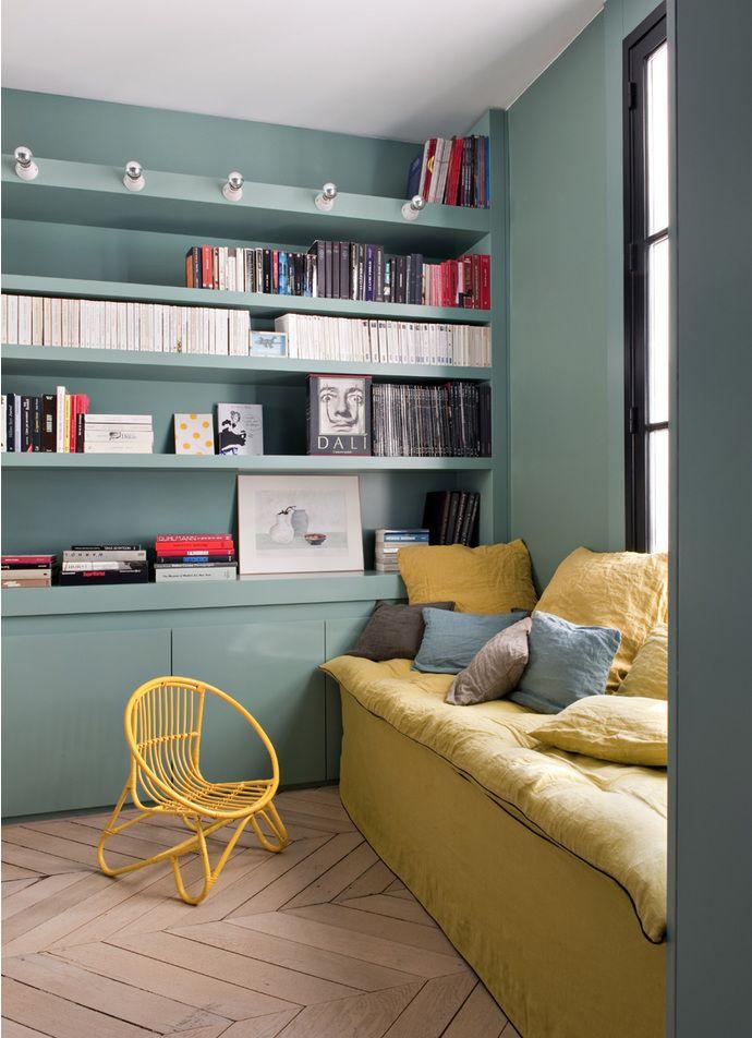 Deco Salon Jaune Bleu Biblio Listspirit Com Leading