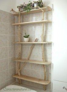 Idée décoration Salle de bain - Etagère bois flotté - Beach ...