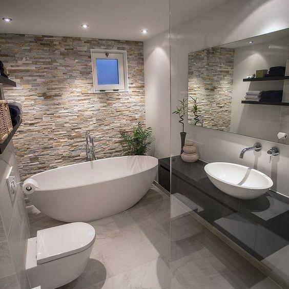 pierre de parement salle de bain interesting parement salle de bain unique carrelage en pierre. Black Bedroom Furniture Sets. Home Design Ideas
