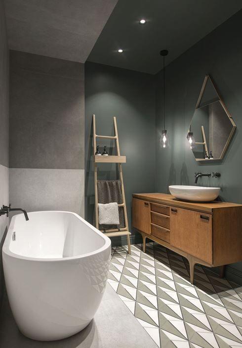 Idée décoration Salle de bain - Salle de bain moderne avec carrelage ...