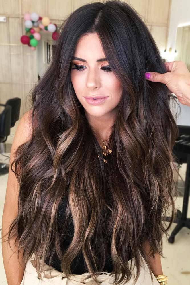 nouvelle tendance coiffures pour femme 2017 2018 subway fall balayage brunette balayage. Black Bedroom Furniture Sets. Home Design Ideas