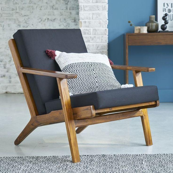 Déco Salon - Ce fauteuil en teck ose le vintage avec une ...