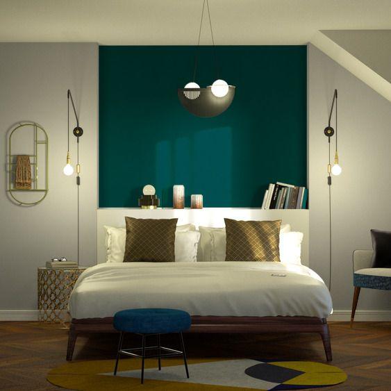 Deco Salon Intisse Opal Coloris Vert Emeraude Listspirit Com