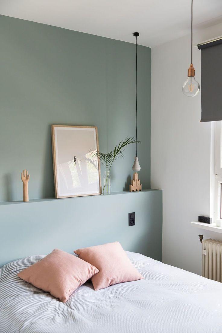 Déco Salon - Un vert olive tout en douceur pour la chambre à ...