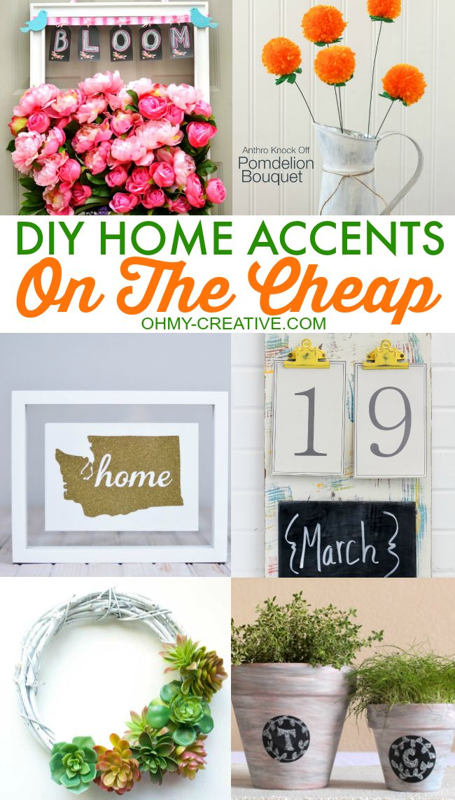 Diy Crafts Diy Home Accents On The Cheap A Great Way To